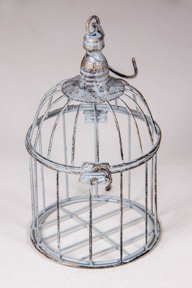 Bird Cage Round: Antique Grey: Small