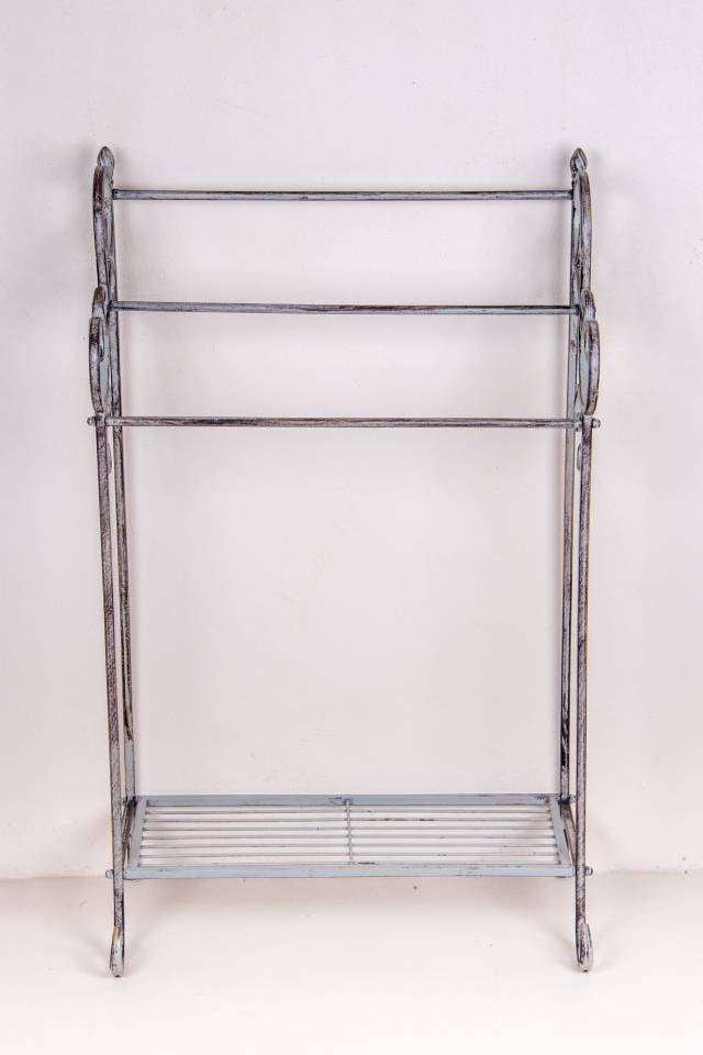 Towel Rack: Standing: Antique Grey