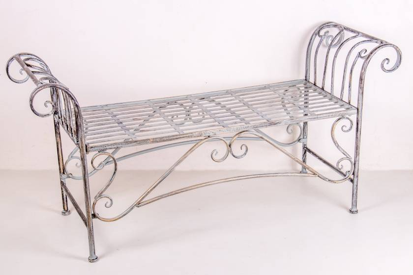 Backless Bench: Antique Grey