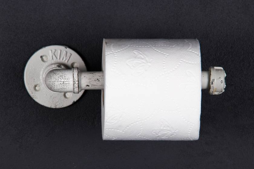 Toilet Roll Holder: Antique White