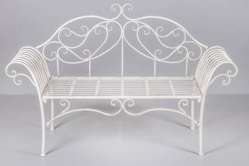 Two Seater Bench:  Antique White
