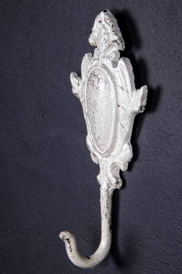 Single Hook: Victorian: Antique White