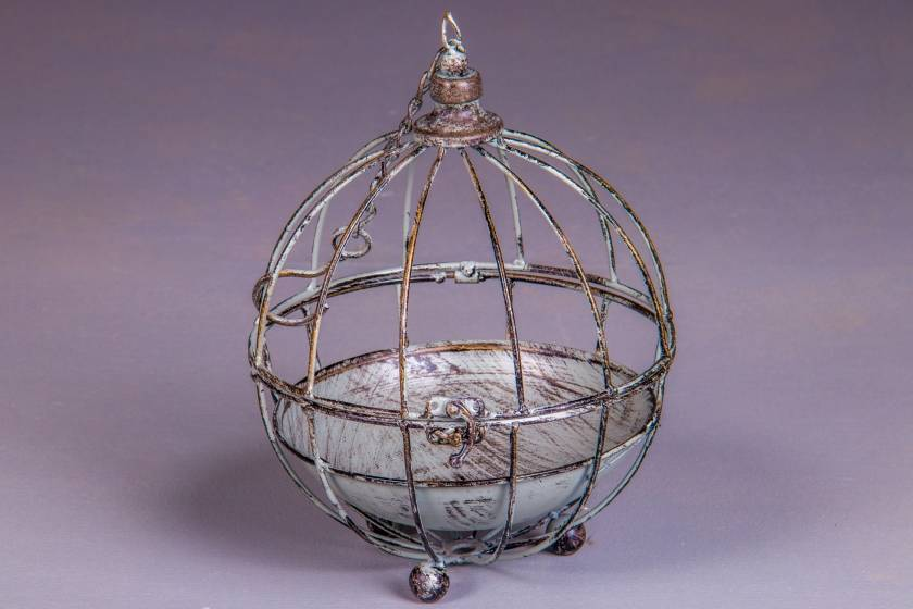 Bird Cage: Antique Grey: Small