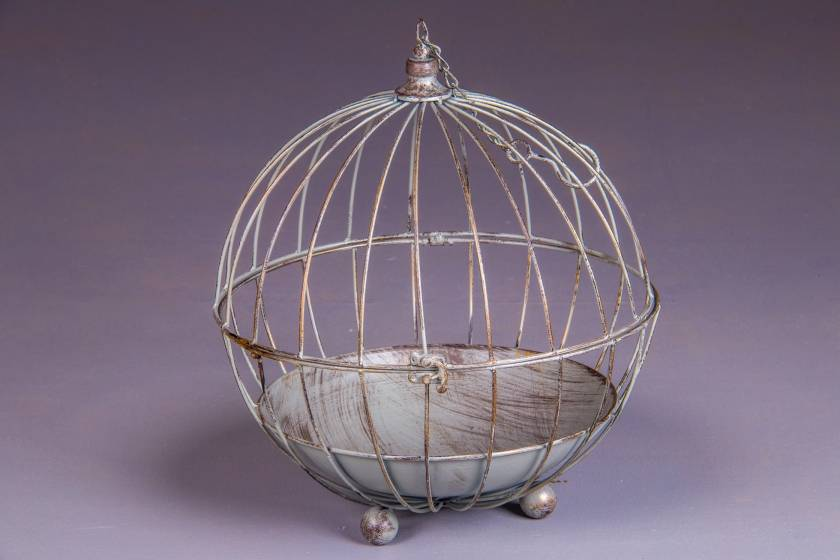 Bird Cage: Antique Grey: Large