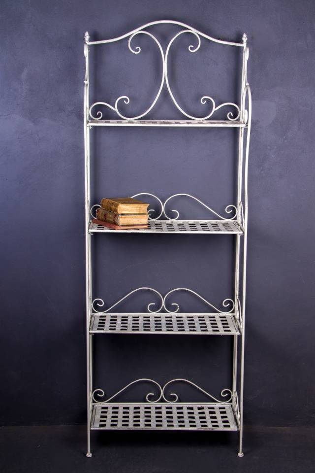4 Shelf: Weave: Antique White