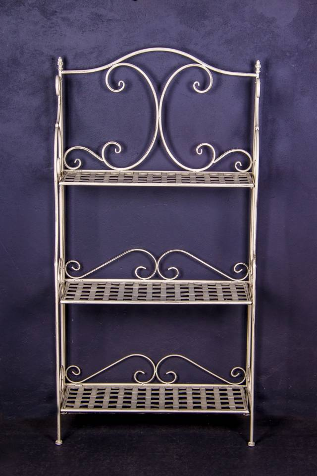 3 Shelf: Weave: Antique White