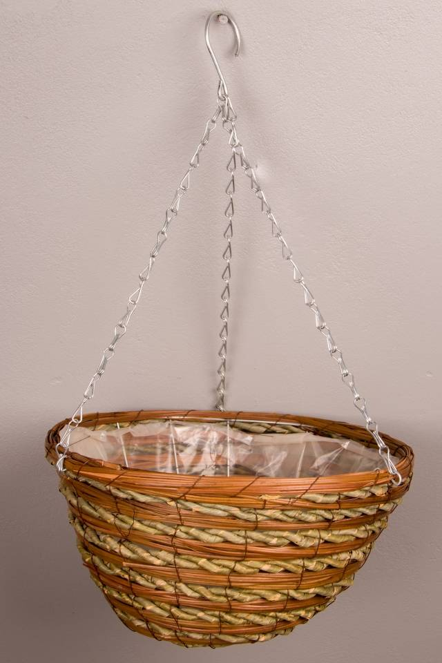 Hanging Basket: Rattan: Large