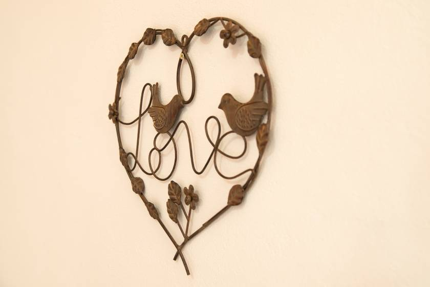 Wall Decor: Heart: Rust
