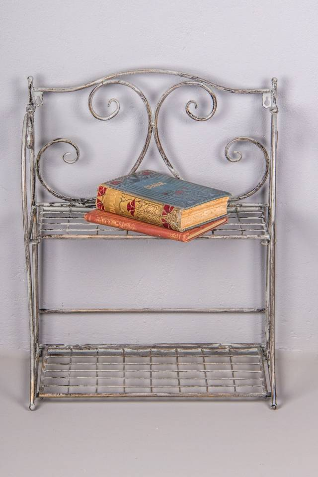 Rack 2 Shelf: Antique Grey