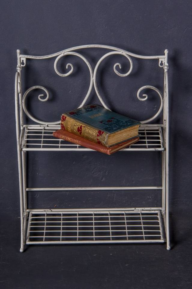 Rack 2 Shelf: Antique White