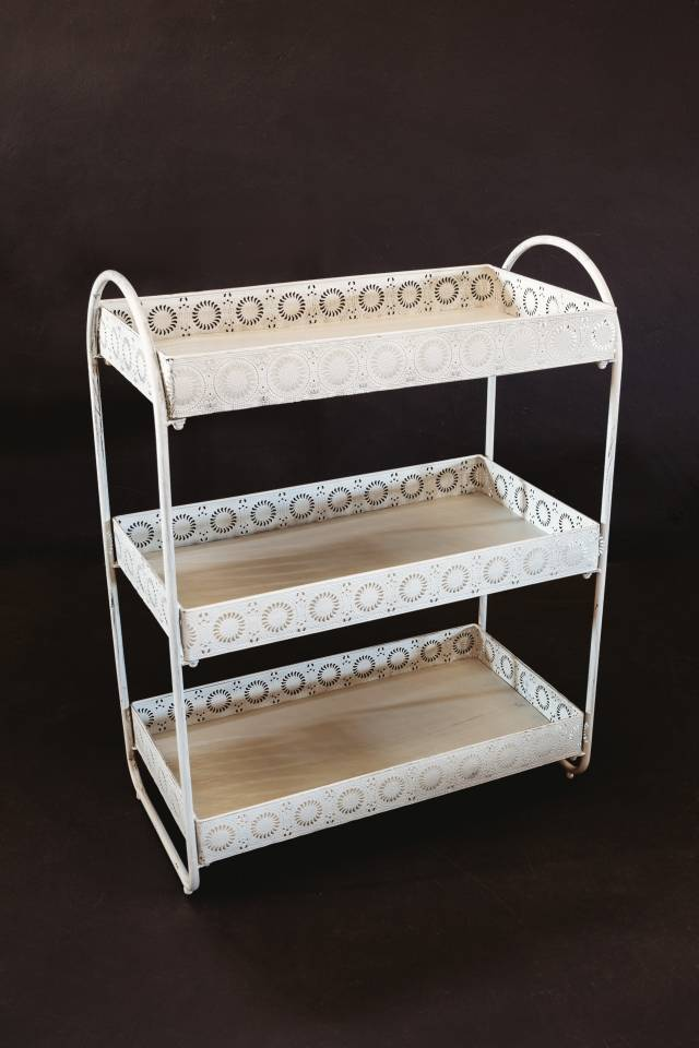Stand 3 Tray: Antique White