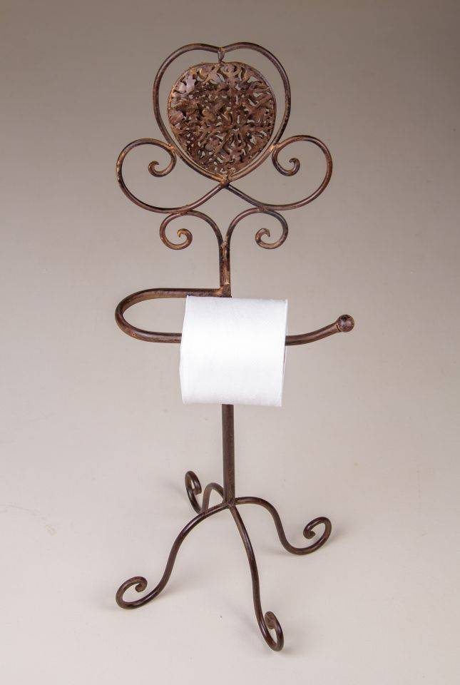 Toilet Roll Holder Stand: Rust