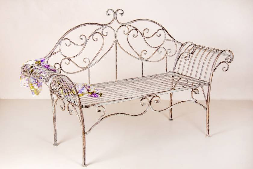 Two Seater Bench: Antique Grey